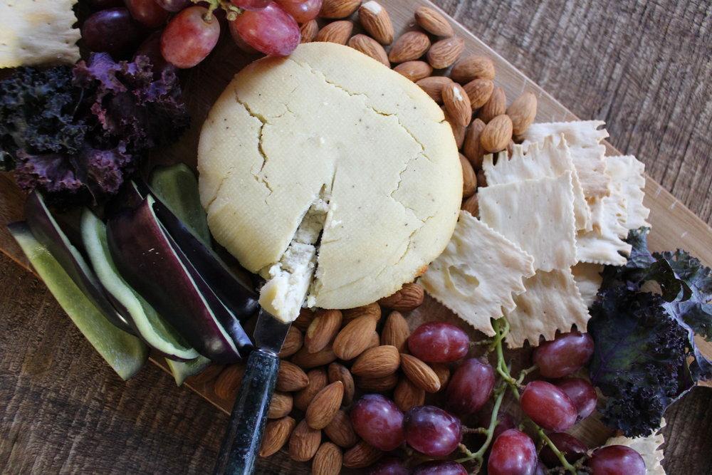 Cheese Board Baked Vegan Feta with Fruit Vegetables Nuts.jpg