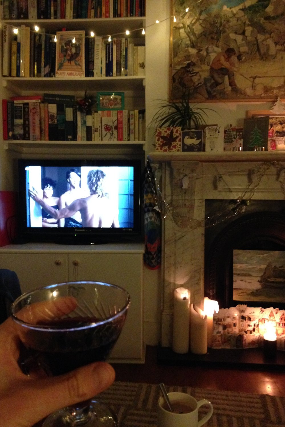 My evening of dreams! Point Break, Port and a Hot Chocolate waiting in the wings