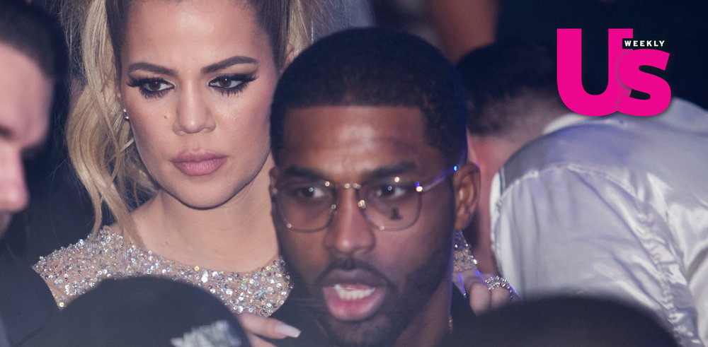 Khloe Kardashian Kisses Boyfriend Tristan Thompson on New Year's Eve