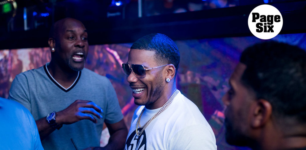 Nelly serenades two brides-to-be