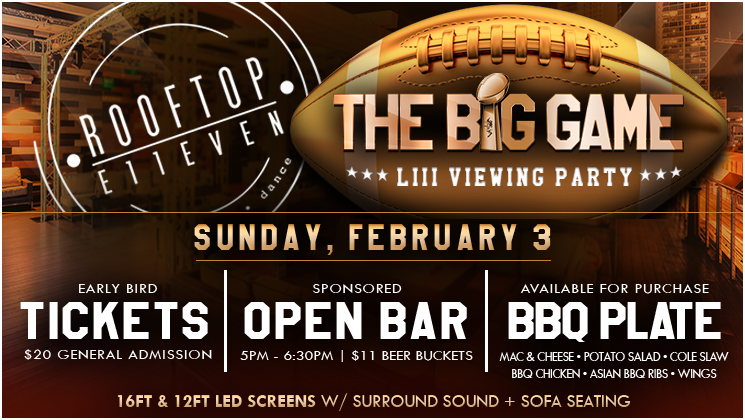 Rooftop E11EVEN MIAMI is the hottest place to watch the BIG Game!