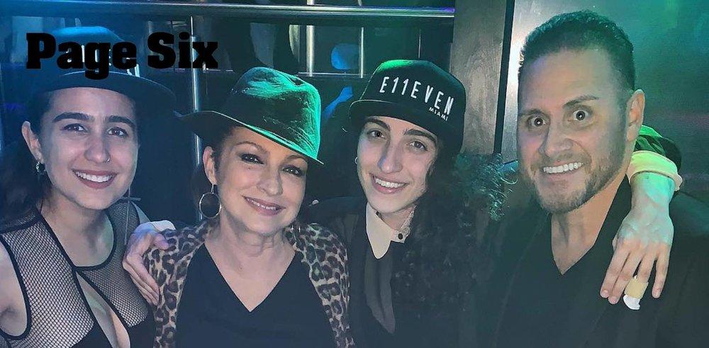 Gloria Estefan dances the night away at Miami club