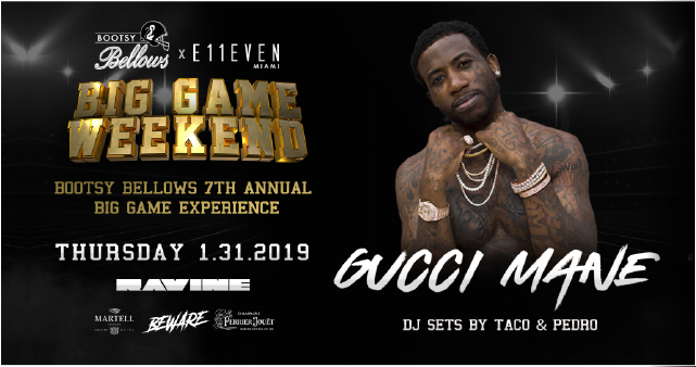 Thursday, January 31 |     GUCCI MANE     TICKETS | VIP TABLES