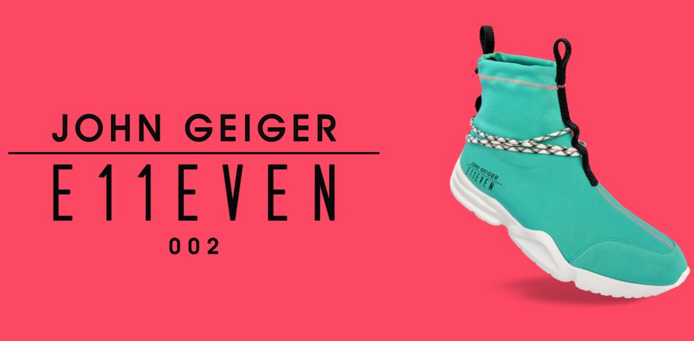 E11EVEN PARTNERS WITH DESIGNER JOHN GEIGER TO RELEASE A LIMITED-EDITION SNEAKER DURING ART BASEL