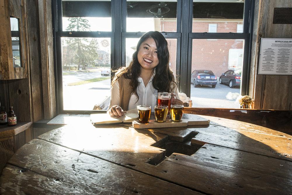 Lady Travelling tries beer tasting!