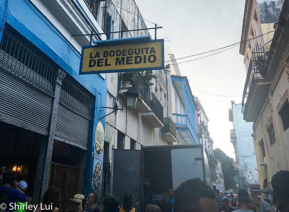 La Bodeguita Del Medio in Havana, Cuba.