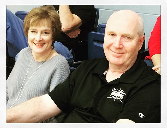 Mr. & Mrs. Hunt. Mr Hunt is the  Executive Director of the Mo Basketball Coaches Association #coachesvscancer