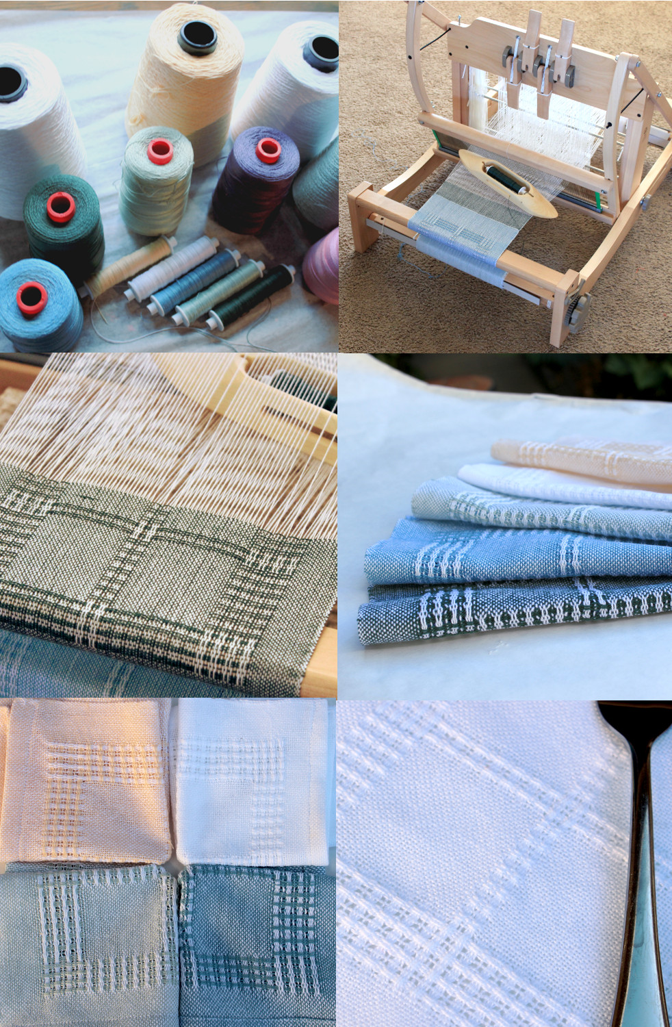 Swedish Lace cocktail napkins - weaving