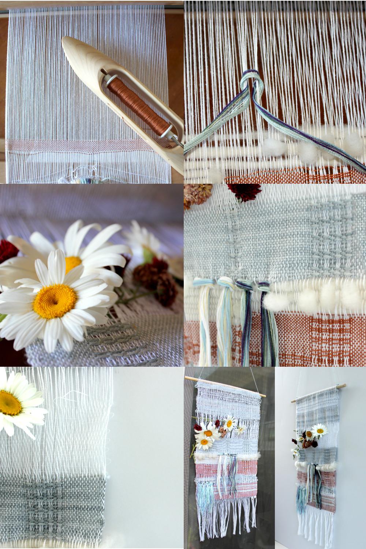 Improv WEaving Wall hanging - weaving