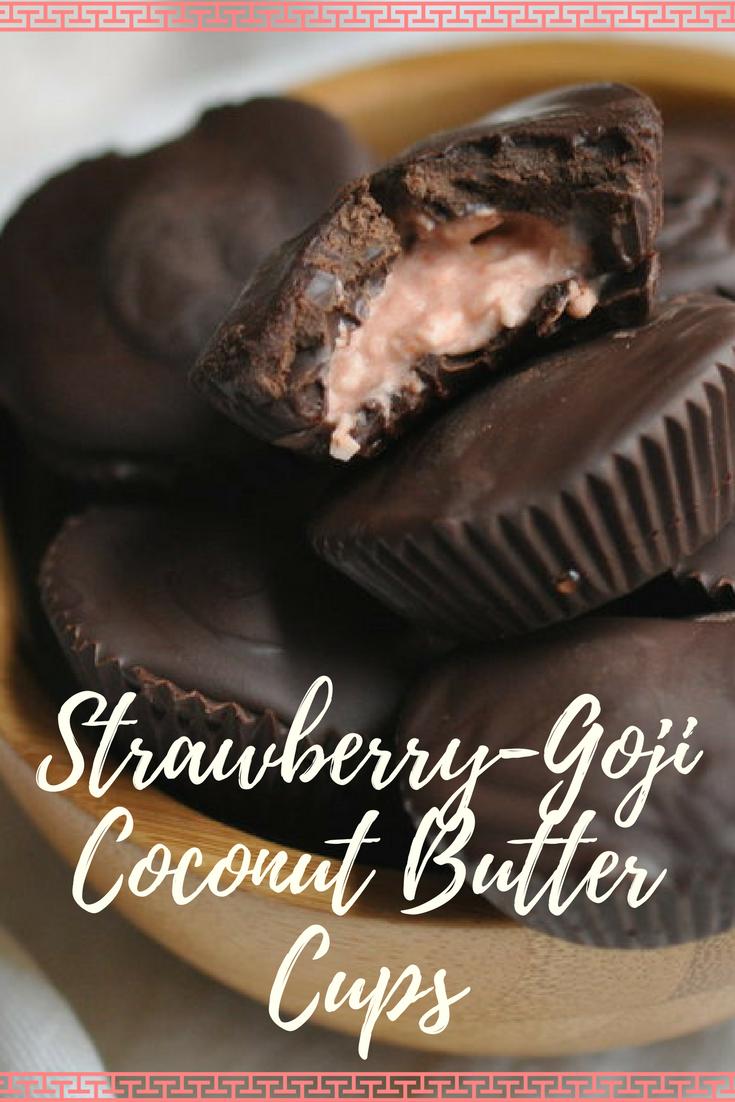 Strawberry Goji Coconut Butter Cups