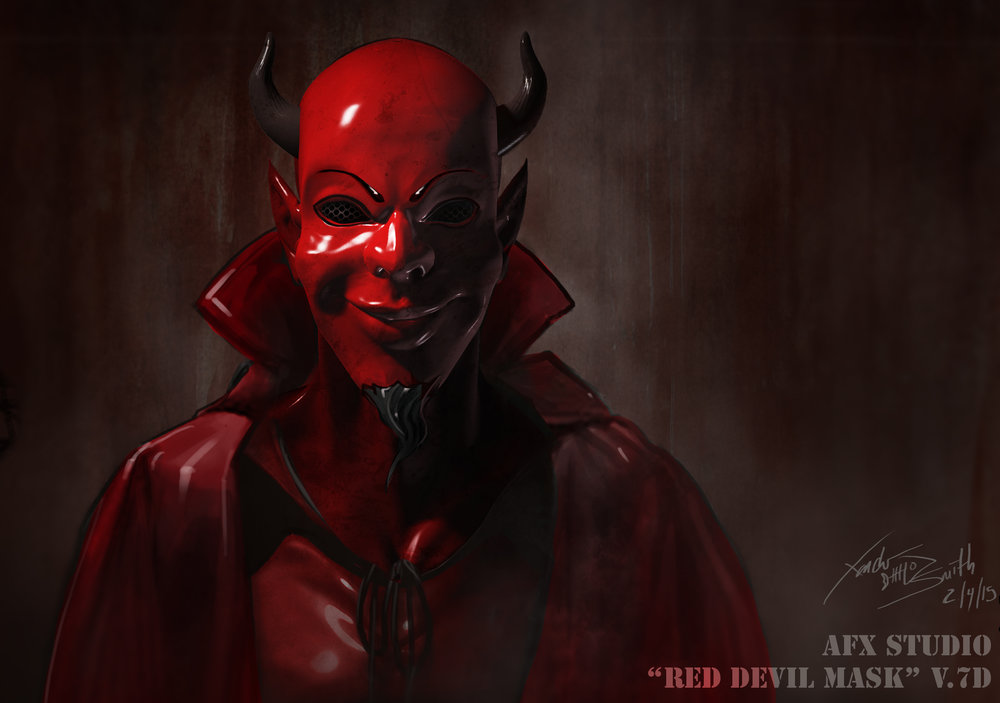 red devil illustration - scream queens (season 1)