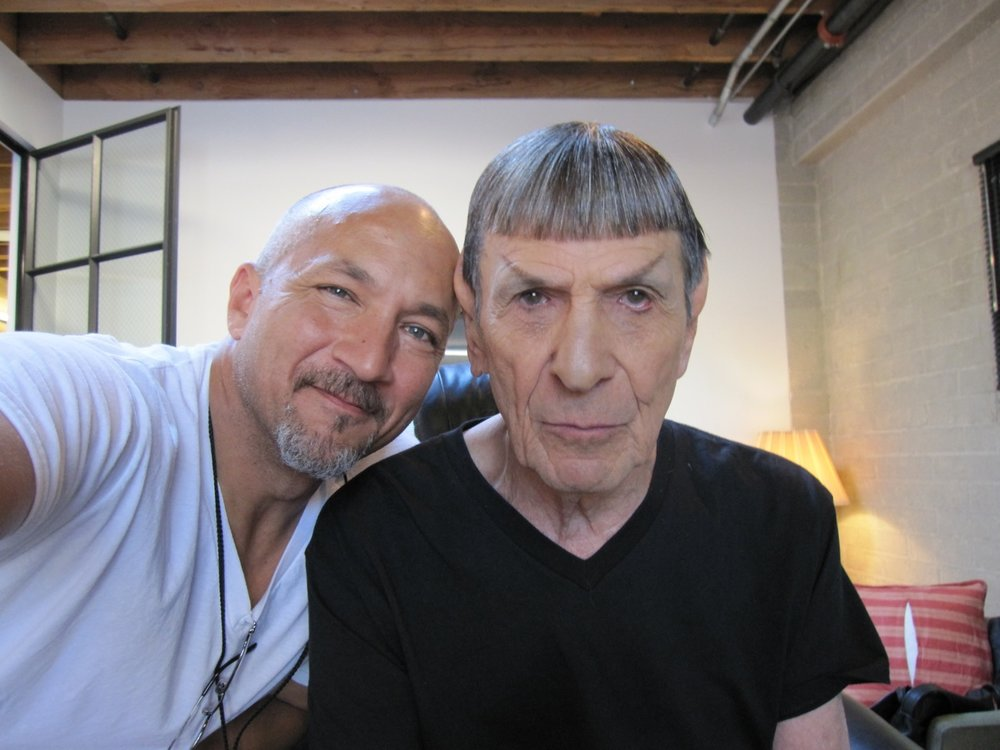 david and leonard nimoy - star Trek: into darkness