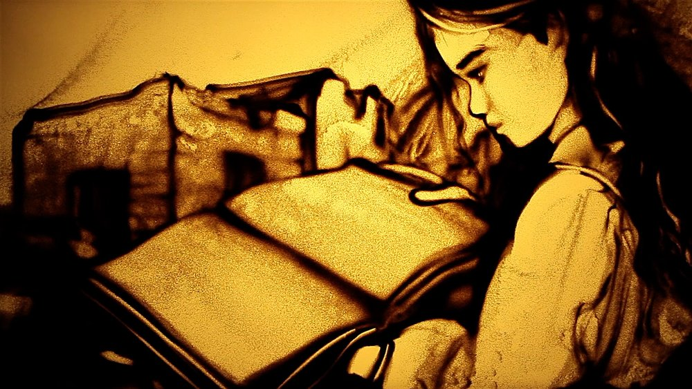 Girl and book of memories (beautiful), La Galana.jpg