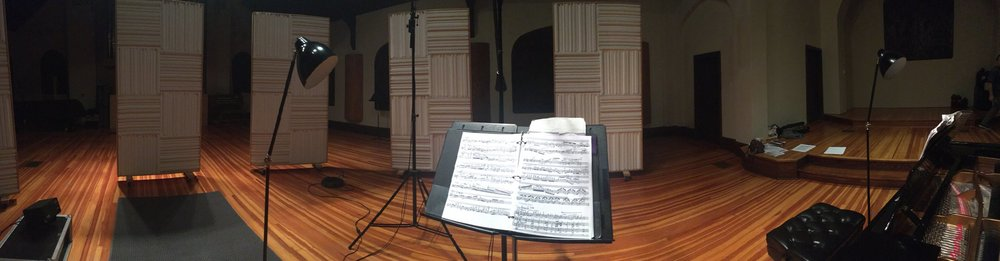 View from the violinist's spot!