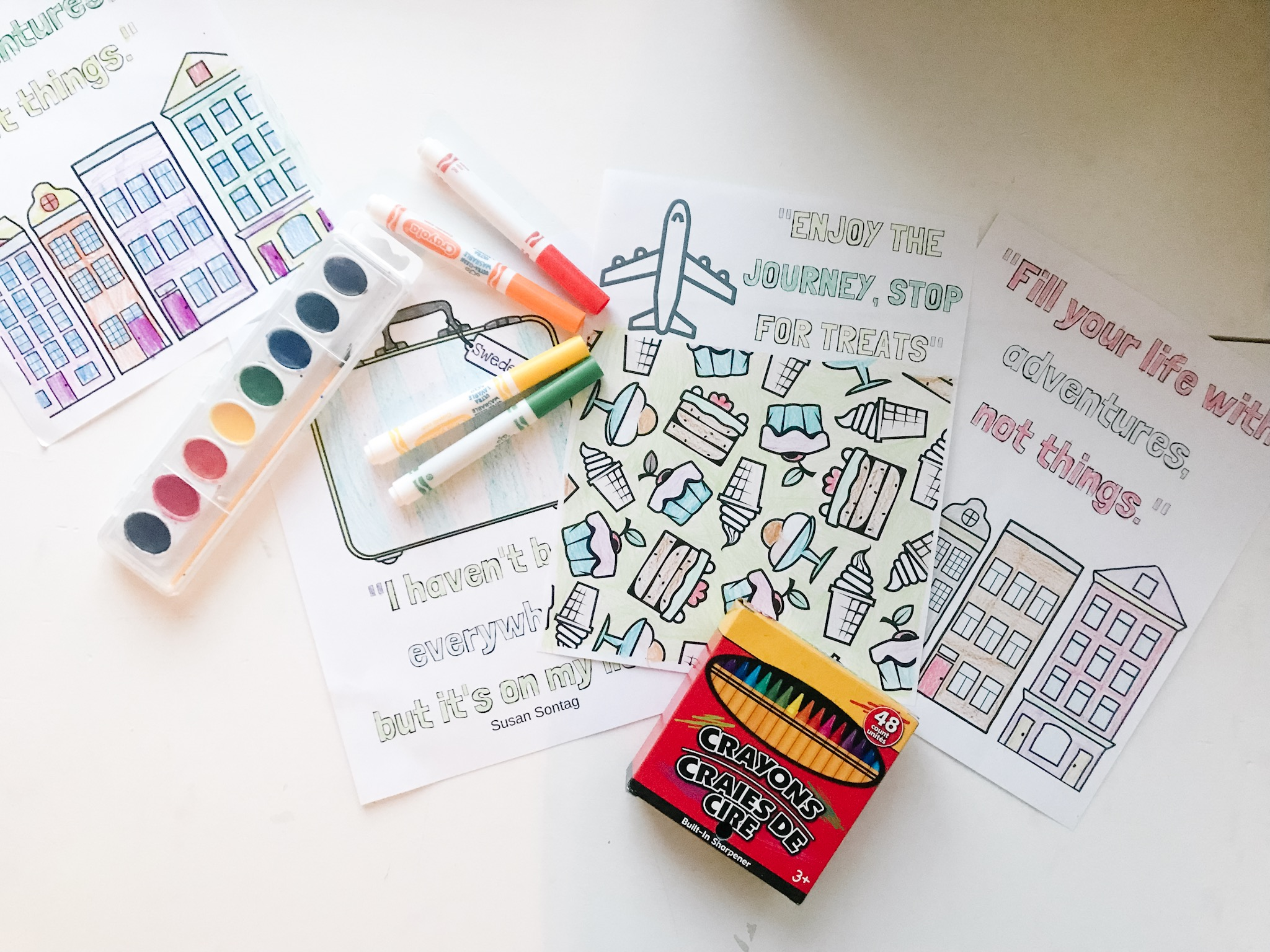 Colouring pages for kids: travel | 1536x2048
