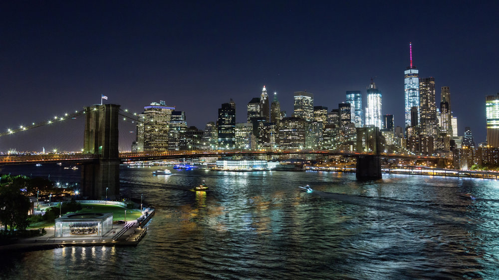 Hd Brooklyn Bridge And Lower Manhattan At Night Emerics Timelapse