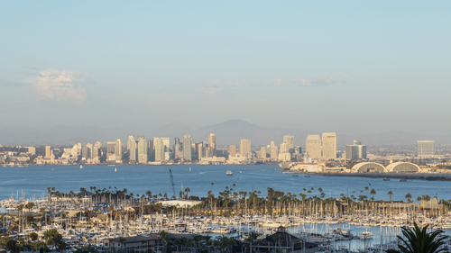 HD San Diego Skyline Day To Night Sunset