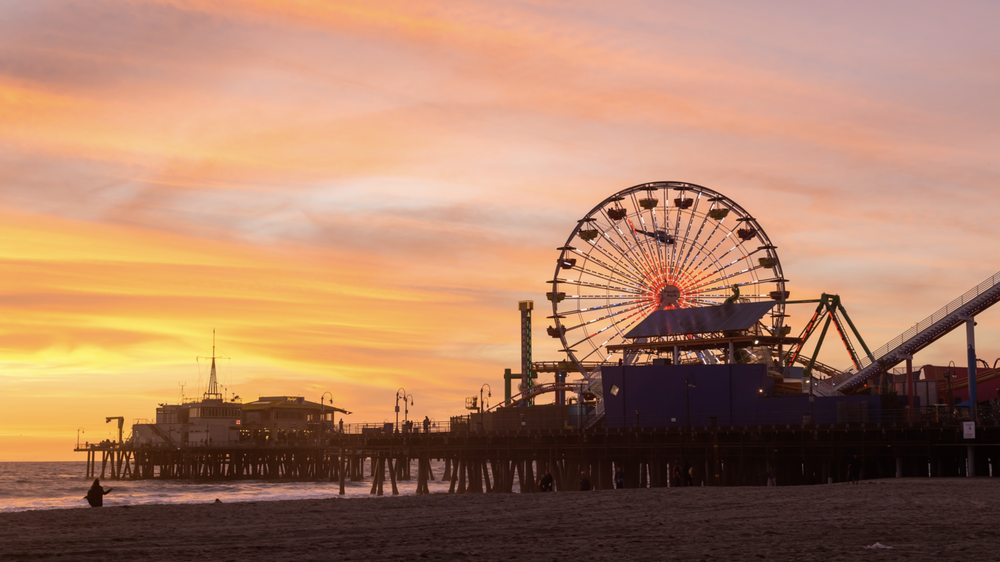 Hd Santa Monica Pier Colorful Sunset Emeric S Timelapse