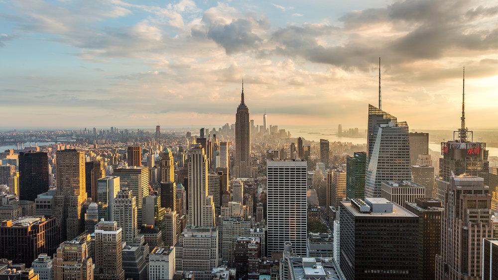 hd new york city skyline day to night sunset  emeric's
