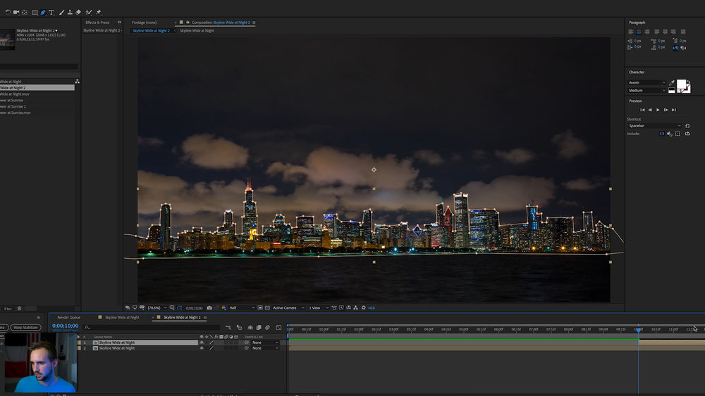 AFTER EFFECTS CLEANING BLURRY IMAGES Timelapse Masterclass 2019