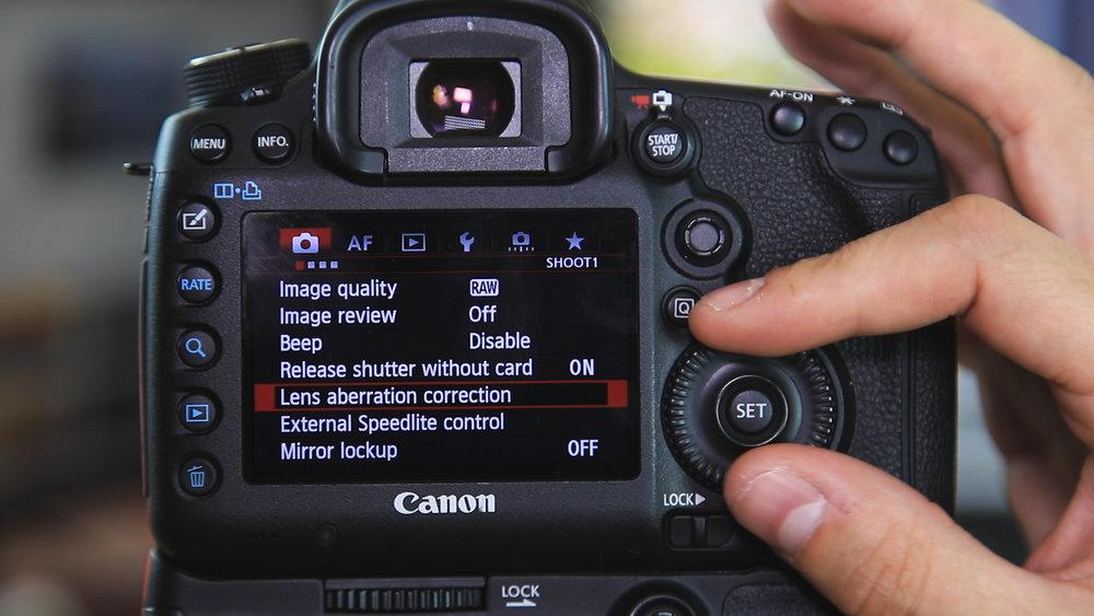 set up camera for timelapse settings tutorial
