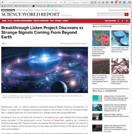 http://www.scienceworldreport.com/articles/58892/20170427/breakthrough-listen-project-discovers-11-strange-signals-coming-beyond-earth.htm
