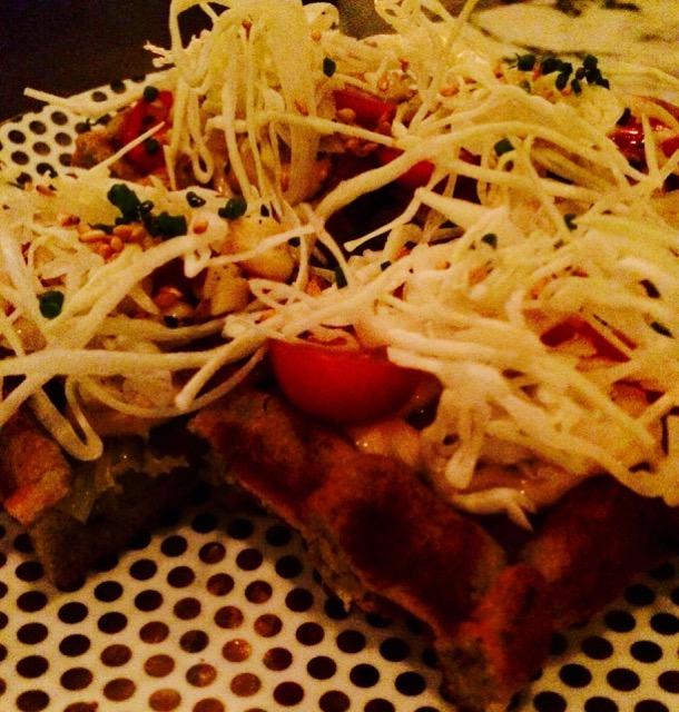 Okonomiyaki waffle, Louie's Gen-Gen Room, San Francisco