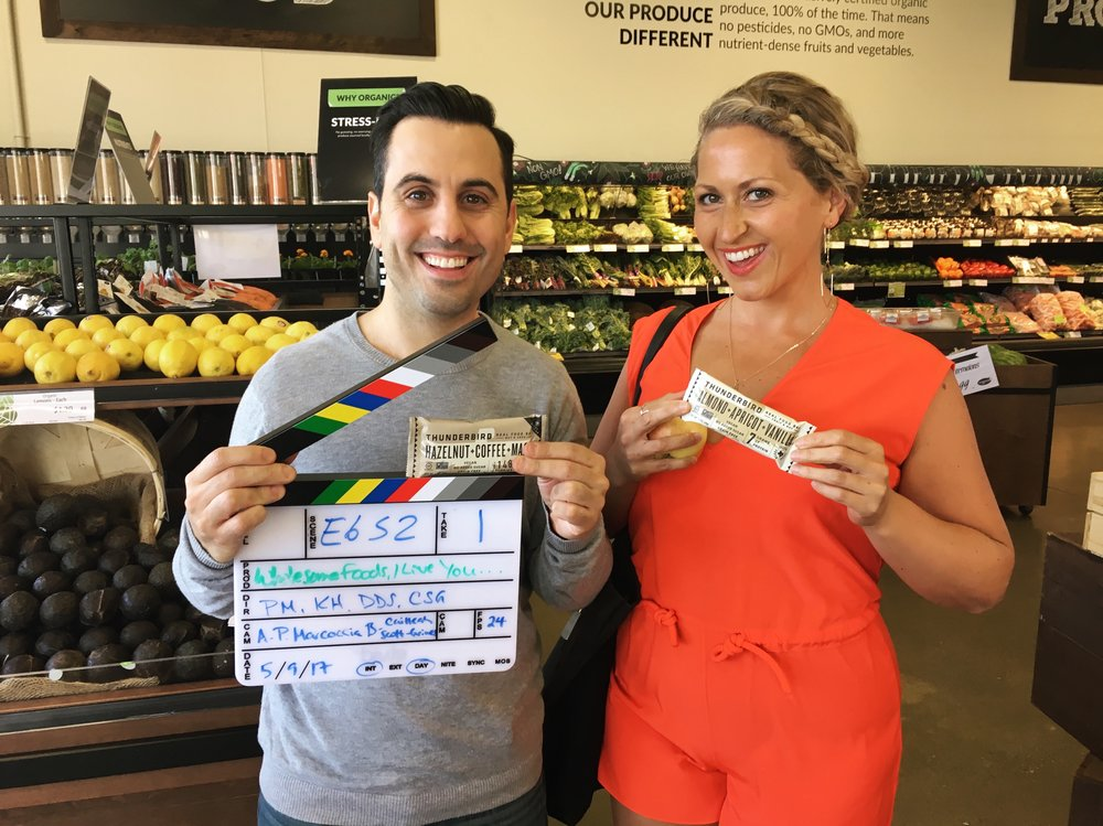 Wholesome Foods, I Love You... Is That OK? Daniel De Santo and Krista Hovsepian on location
