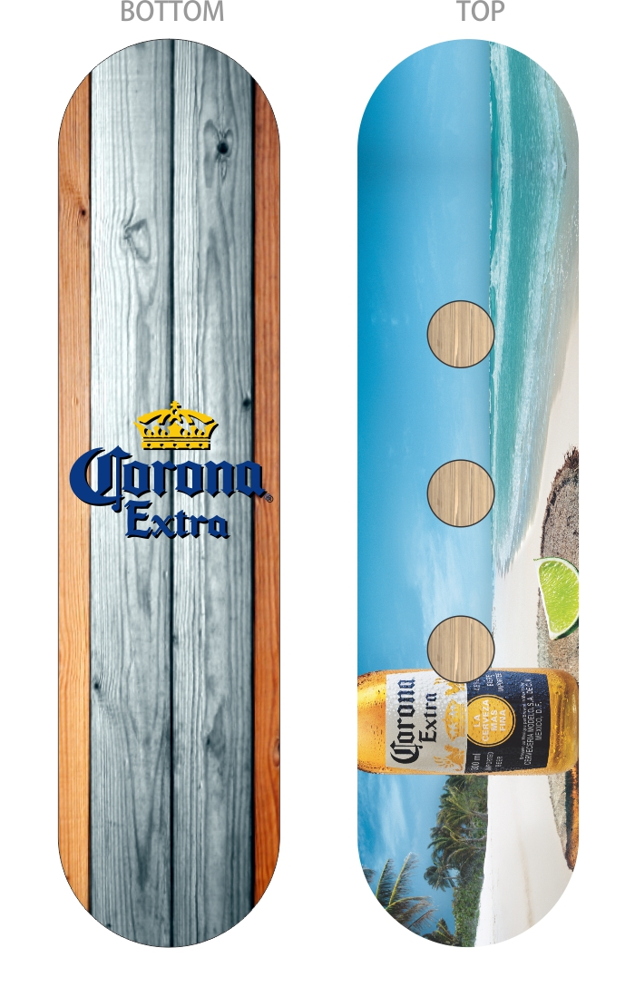 Corona Bottle - Serving Tray Skate Deck.jpg