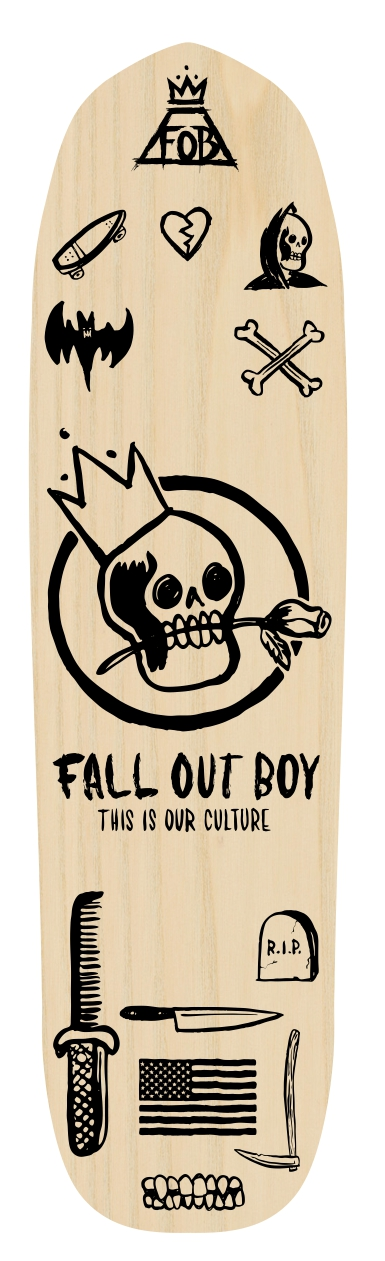 Fall Out Boy Skate Deck.jpg