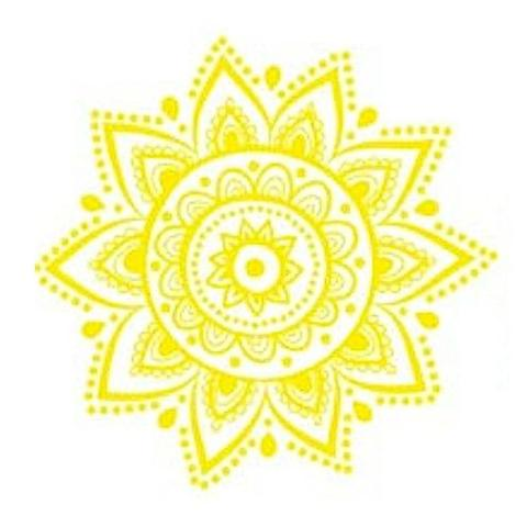 The Third Chakra's color is yellow