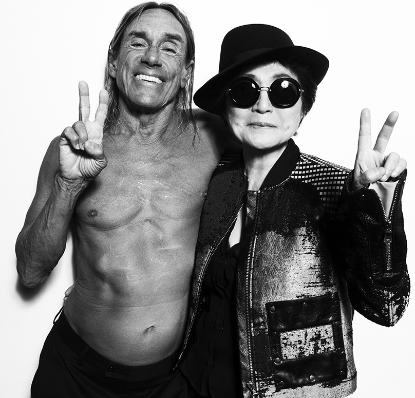 Iggy and Yoko say Peace
