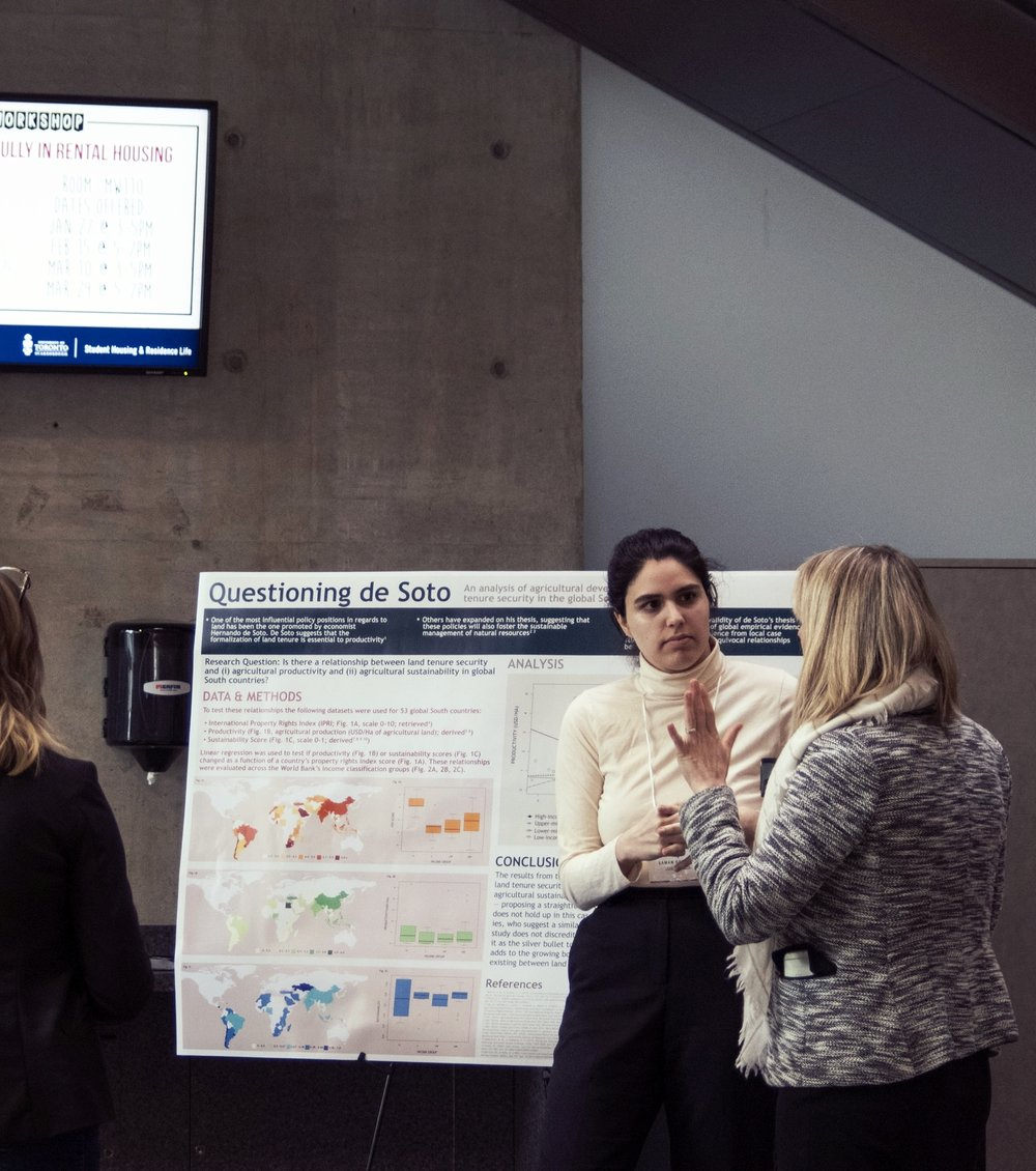 IDC Poster Fair - The IDC 2018 is accepting submissions for this year's student research poster fair to showcase the research interests and experiences of undergraduate students. Students will be given the chance to develop and present a research poster to showcase their recent research in the fields of international development, political science, health studies, environmental sciences, economics, sociology, and other related academic fields! This year's conference will take place on Saturday February 10, 2018.
