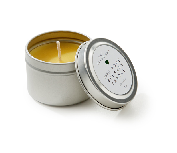 100% pure beeswax candle