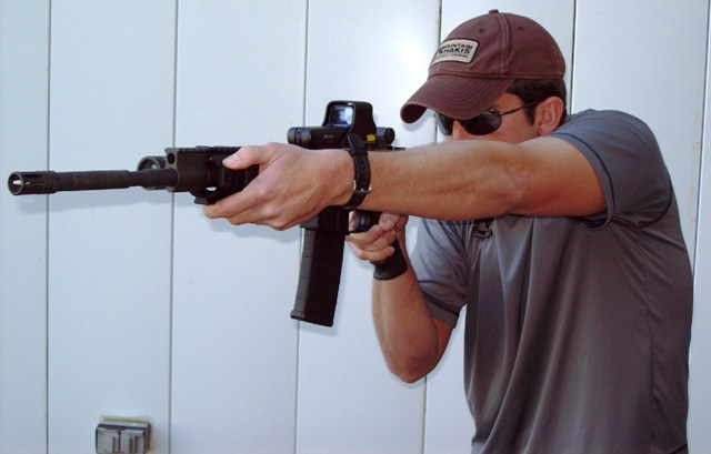 FIST-FIRE Instructor Derrick Cox demonstrates  the FIST-FIRE Carbine Presentation...