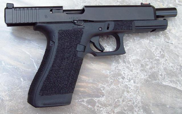 Glock 34 Generation 5 with Hi-Grip Cut, STIP-TEX Dust Covers & Flat Wrap Combo…