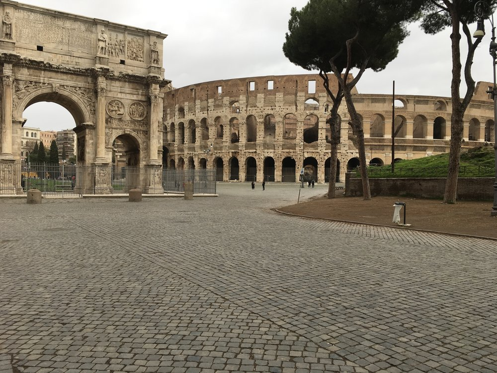 Entrance to the Roman Colosseu