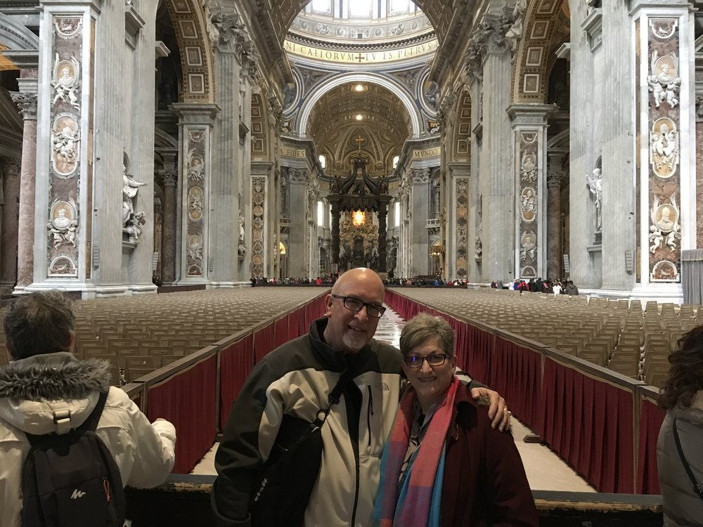 At St. Peter's Basilica