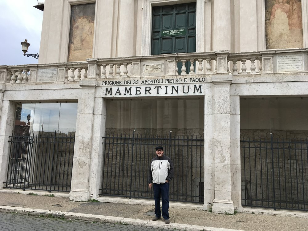 Me at the infamous Mamertine Prison - Tradition says that Peter & Paul Jailed Here