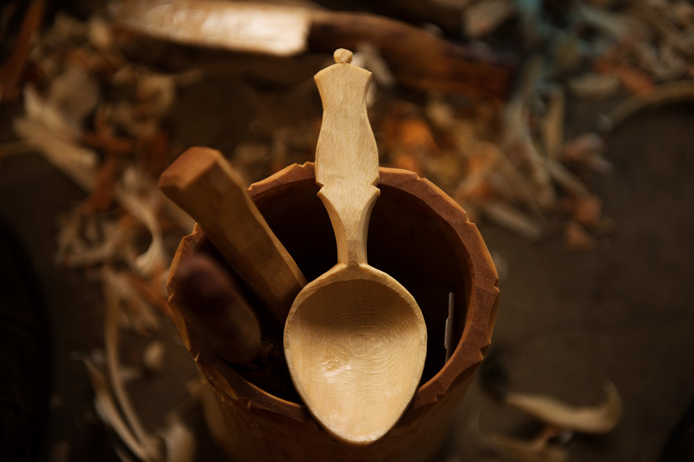 Oiled Sycamore Eating Spoon - Linseed Oil