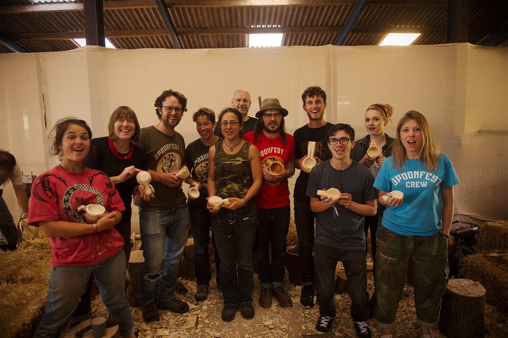 Kuksa Carving Workshop at SpoonFest 2016, Edale - UK