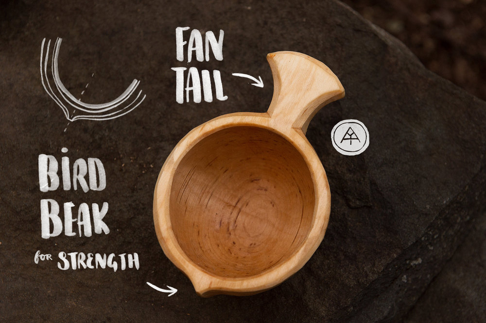 My Fan Tail and Bird Beak (for grain strength) - Design form conceived circa 2013