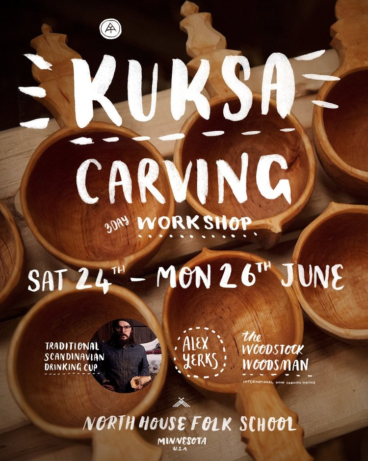 Kuksa Carving - 3 day class / Sat 24th - Sun 26th June / $310