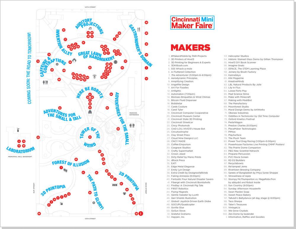 Cincinnati Maker Faire Map