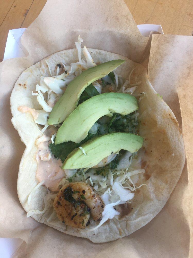 Salsa Verde Shrimp Taco