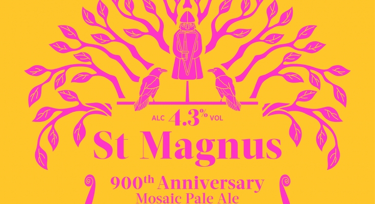 St Magnus 900 Mosaic Ale - Limited edition 500 ml Bottles  This beer was brewed to commemorate St Magnus, the Norwegian Earl, Saint and Martyr and the anniversary of his death 900 years ago.