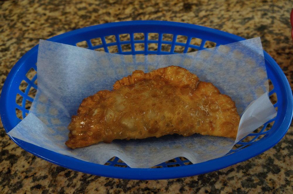 Lecchon Empanada : shredded pork with Cuban Marinade
