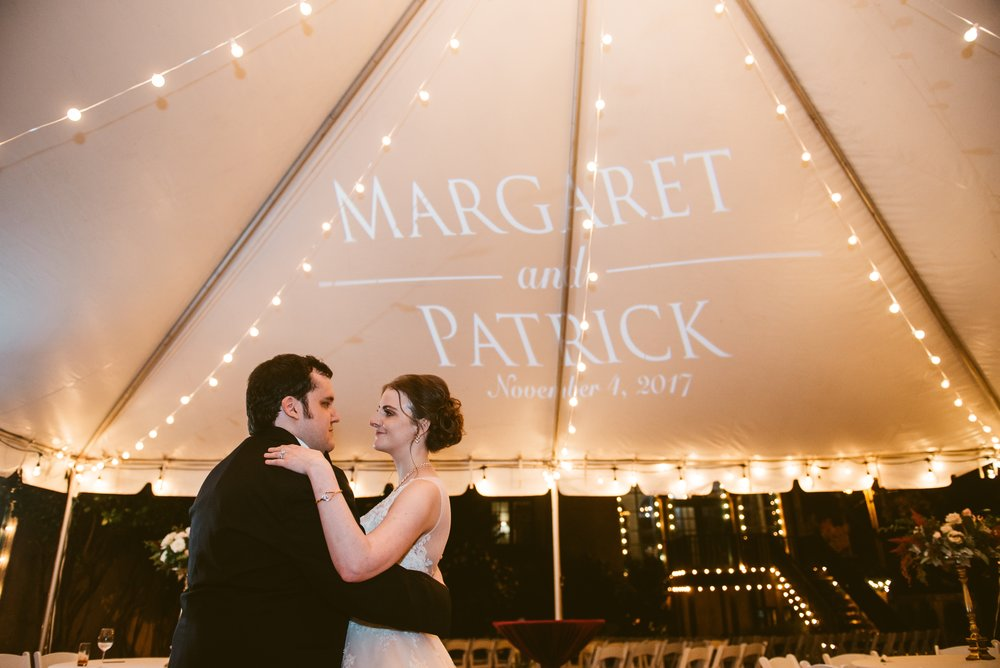 Congratulations to Margaret and Patrick! Thank you for allowing me to plan and design your wedding!