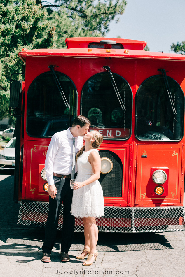 A great way to get to the ceremony location from town!  Josselyn peterson captured this moment before the bride  disappeared to get dressed for the ceremony