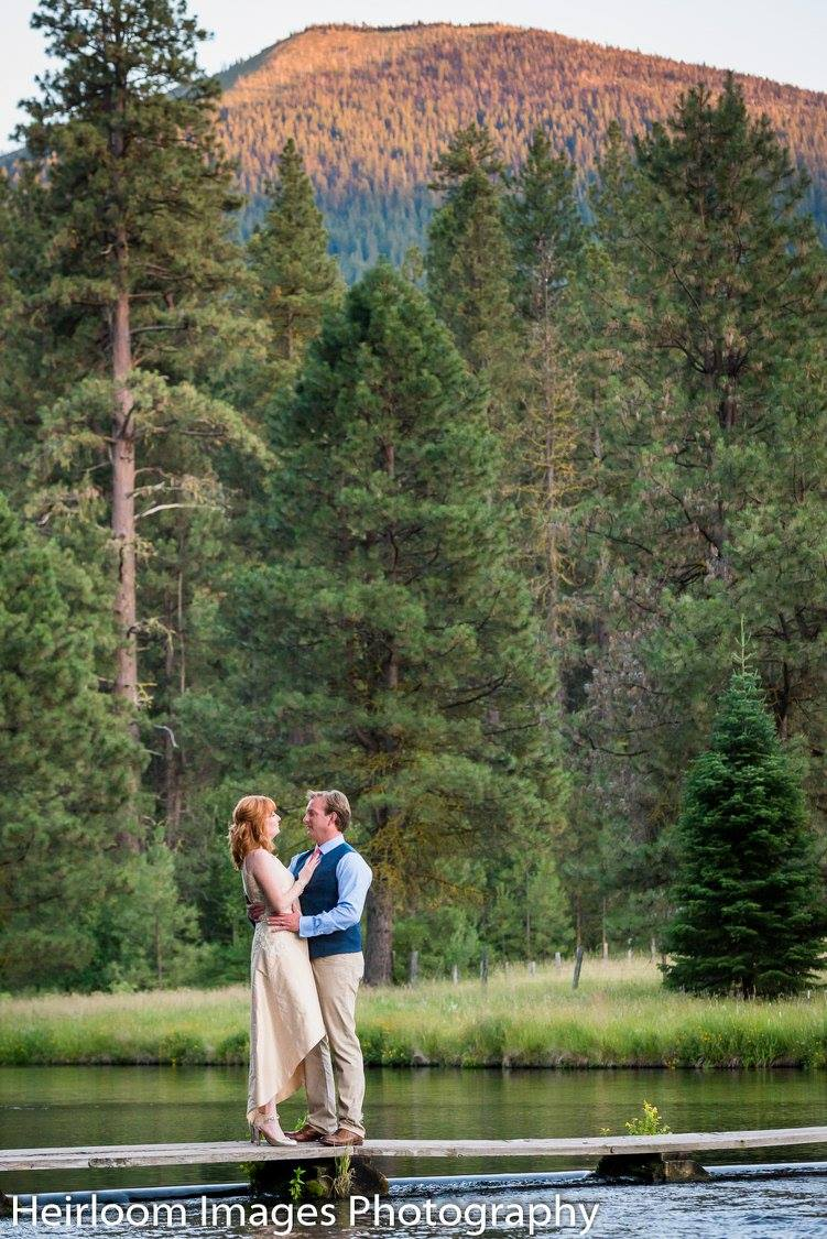 Central Oregon is a perfect back drop for a destination wedding